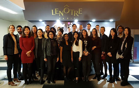 Savoury flans and desserts... Behind the scenes of Maison Lenôtre with the students of the MSc in International Project Development